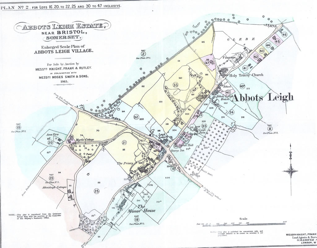 Map of Abbots Leigh 1915
